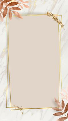 iPhone Wallpaper Obtain premium picture of Leafy golden rectangle body vector by nunny about backgro
