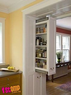 This would be such a great idea. It lets there be lots of storage and keeping the house looking clean and with lots of space! Perfecto!