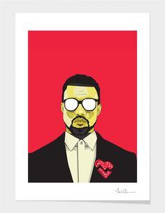 """Kanye West"" - Art Print"