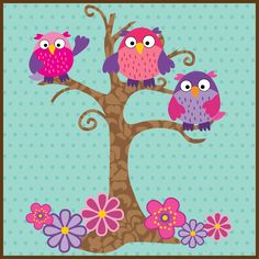 owls by Lisa of White Button