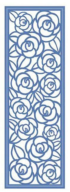 Creative Expressions Sue Wilson Die - Striplets -Rose Garden by PNWCrafts on Etsy Stencil Patterns, Stencil Designs, Kirigami, Wood Plastic, Stencils, Lampe Decoration, Border Design, Scroll Saw, Paper Cutting