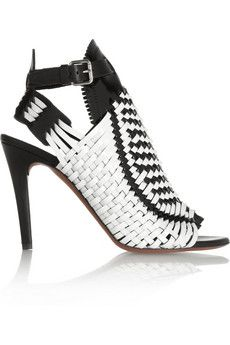 Proenza Schouler Woven patent-leather sandals | THE OUTNET