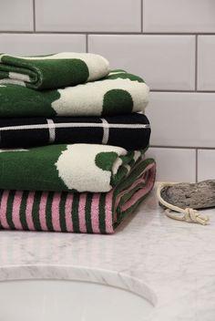 Aho Girl, Marimekko, Small Bathroom, Living Spaces, Towel, Interior Design, Finland, Rocks, Draw