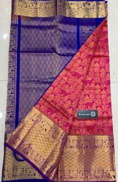 * Pure Handloom Designer Gadwal Silk Sarees with Silver Jari * Rich Contrast Pallu * Contrast Blouse with Border * Smooth & Soft Fabric * With Silkmark Certified To order plz whatsapp to 91 8555892936 Soft Silk Sarees, Cotton Saree, Saree Blouse Neck Designs, Blouse Designs, Saree Color Combinations, Silk Saree Kanchipuram, Elegant Fashion Wear, Ethnic Sarees, Gold Earrings Designs