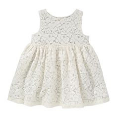 Baby Girls' Lace Dress from Joe Fresh. Make the occasion extra special when you dress her up in lace with a sparkly underlay and layer of tulle. Only $19.