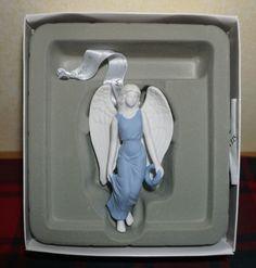 "NIB ~ WEDGEWOOD ~ CHRISTMAS BLUE FIGURAL ANGEL ~ 4.1"" Tall ~ CHRISTMAS ORNAMENT"