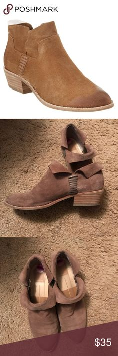 Dolce Vita ankle booties Suede booties. Can be worn with the ankle part up or down! Gently worn, great condition - just the wrong size for me! Dolce Vita Shoes Ankle Boots & Booties