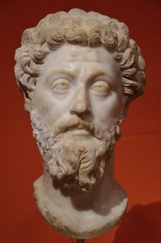 Portrait of emperor Marcus Aurelius, from Rome, after AD 169, Liebieghaus, Frankfurt.