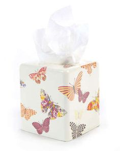 White+Butterfly+Garden+Tissue+Box+Cover+by+MacKenzie-Childs+at+Neiman+Marcus.