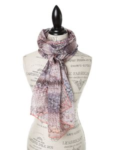 "SILK PRINT SCARVES FOR WOMEN IN LUXURIOUS SILK CHIFFON IN GREY RIVER ROCK.  GŌBLE luxurious rectangular silk scarves elevate any outfit with the grace and artistry of trompe l'oeil. FABRIC & COMPOSITION 100% Silk Chiffon 20"" X 70"" (50cm x 178cm) GOBLE.CA"
