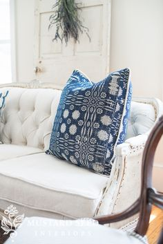 miss mustard seed | pillow with piping tutorial