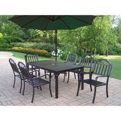 Lowes Garden Treasures Patio Furniture   Decor IdeasDecor Ideas. See More.  Oakland Living Corporation Hometown 8 Piece Outdoor Dining Set With Green  ...