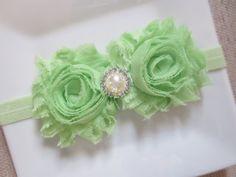 mint green baby headband mint baby headband by hartsandflowers, $7.50