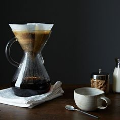 For a Japanese-style iced coffee, sub half the water for ice cubes and brew the coffee right over them. (A Chemex is great for this, but you can use any pour over-style brewer.)