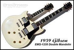 Twin neck Gibson guitar
