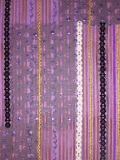 Tela Bordado Purple em pintura acrilica e tecnica mista 2012 - 50x70 -acrylic on canvas -  Melina Ollandezos