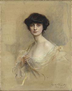 La comtesse Anna de Noailles. Philip Alexius de Laszlo, 1913