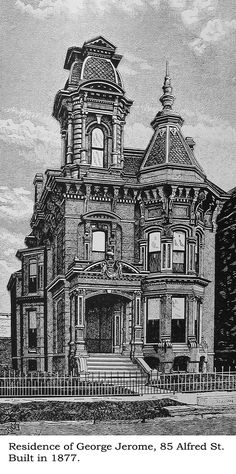 https://flic.kr/p/6nL3Tr | Jerome house, Detroit | Illustration from Silas Farmer's, History of Detroit and Wayne county and early Michigan c. 1890.