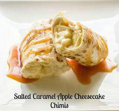 Dessert - Salted Caramel Apple Cheesecake Chimis