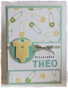 Baby Shower Gift Bags, Baby Shower Cards, Baby Cards, Stampin Up Karten, Stampin Up Cards, Scrapbooking, Scrapbook Cards, Baby Christening, Baby Boy Or Girl