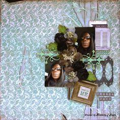 Swirlydoos Scrapbook Kit Club: *Artful Blues* with Kim