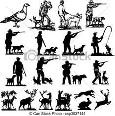 drawings of hunting