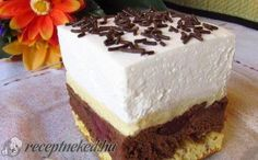 Feketeerdő szelet recept fotóval Vanilla Cake, Desserts, Food, Facebook, Bite Size, Tailgate Desserts, Deserts, Essen, Postres