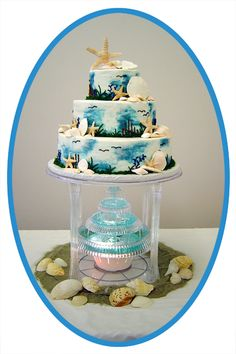 beach wedding cakes pictures - Google Search