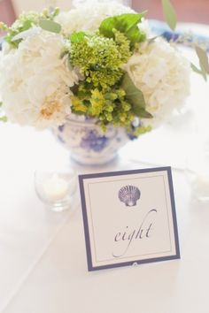 Seaside Wedding Table Numbers.