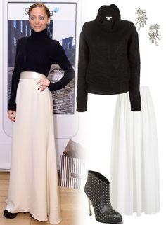 Winterize Your Maxi Skirt Like Nicole Richie