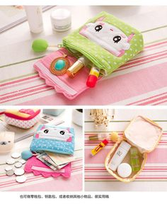 Home Simply Sanitary Pad Pouch | YesStyle Diy Bags Jeans, Diy Bags Purses, Sewing Crafts, Sewing Projects, Sewing To Sell, Cloth Pads, Chapstick Holder, Leather Bags Handmade, Foam Crafts