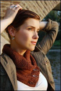 """This """"Shawl-Collared Cowl"""" from Never Not Knitting"""