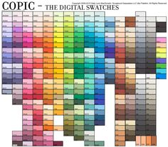 For those who would like to make their printed fonts or digital elements coordinate with their stamped and colored designs I've got a solution for you for all 358 Copic Colors.