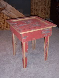 Rustic Barn Board End Table other colors shown by TheFallBasket, $75.00