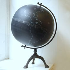 If you have a #globe you don't like, then you can paint it with #chalkboard-paint!