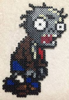 Plants vs Zombies Zombie Perler Bead Art by EightBitEvolution, $12.00