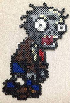 Zombie Perler Beads