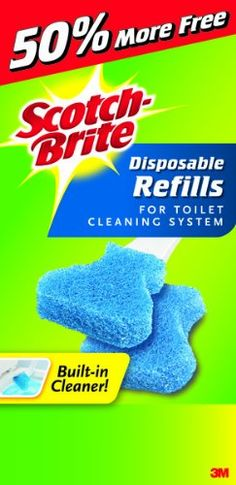 scotchbrite disposable toilet scrubber refills 10 refills per box pack of