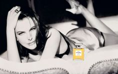 1997 - Carole Bouquet, photographed by Dominique Issermann for CHANEL N°5 advertising campaign in 1997.