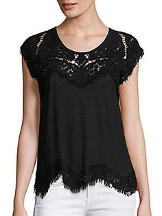 Generation Love Reeves Scalloped Lace-Trim Top