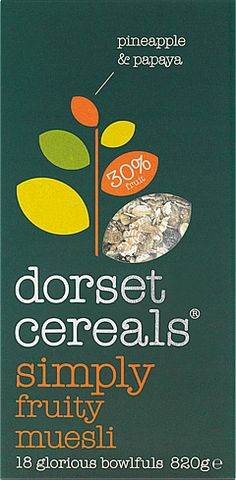 simply fruity muesli  a simple blend of sweet papaya, mouthwatering pineapple & gorgeous flakes with sultanas & raisins