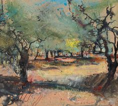 Yellow fig tree in an olive grove. 2015 - Messum's | Fine Art Est.1963