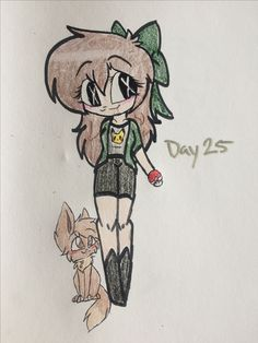 Day 25! Only 5 left! I have Button Sight an eevee because eevee is one of my favorite Pokémon :3
