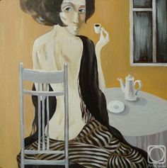 Personal gallery of works and paintings for sale artist Panina Kira Bali Painting, Cafe Art, Main Theme, Russian Art, Coffee Cafe, S Pic, Paintings For Sale, Art Gallery, Fantasy