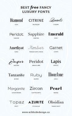 Best Free Luxury Fonts - Fonts - Ideas of Fonts - What if you want to make YOUR brand look high end? Here are some free luxury fonts in a variety of styles serif sans-serif and some high-end scripts. Free Font Design, Graphic Design Fonts, Poster Design, Font Free, Best Free Fonts, Free Fonts Sans Serif, Font Logo Design, Logo Fonts Free, Best Serif Fonts