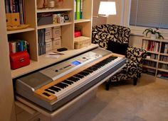 Custom-made piano drawer
