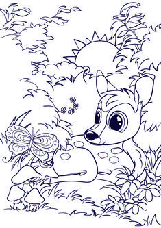 Learn How to Draw a Deer – Cartoon Scene Step by Step Tutorial