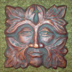 Based on a 14th century stone carving of a Green Man at Gloucester Cathedral. Approximately 5 inches square, 125mm x 125mm. £14.