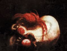 Death of a Clown  Emanuel Petersson  Oil Painting