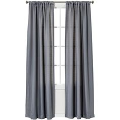 Chesapeake Curtain Panel Pair ($20) ❤ liked on Polyvore featuring home, home decor, window treatments, curtains, windows, grey, window curtains, patterned curtains, gray curtain panels and target curtains